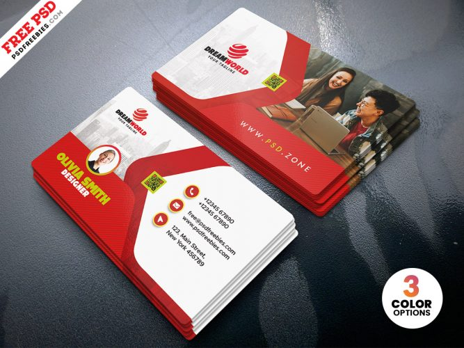 Modern Personal Business Card PSD Templates