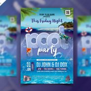 Beach and Pool Party Flyer PSD