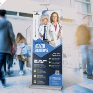 Premium Health Care Business Roll-Up Banner PSD