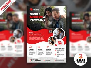 Print Ready Corporate Flyer Design PSD
