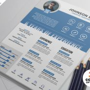 Professional Clean Resume CV Template PSD