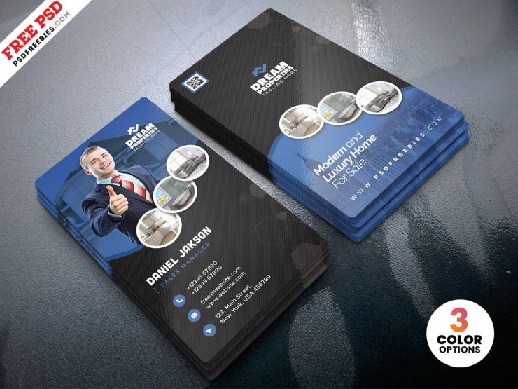 Real Estate Property Dealer Business Card PSD