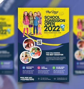 School Admission Pamphlet Flyer Design PSD