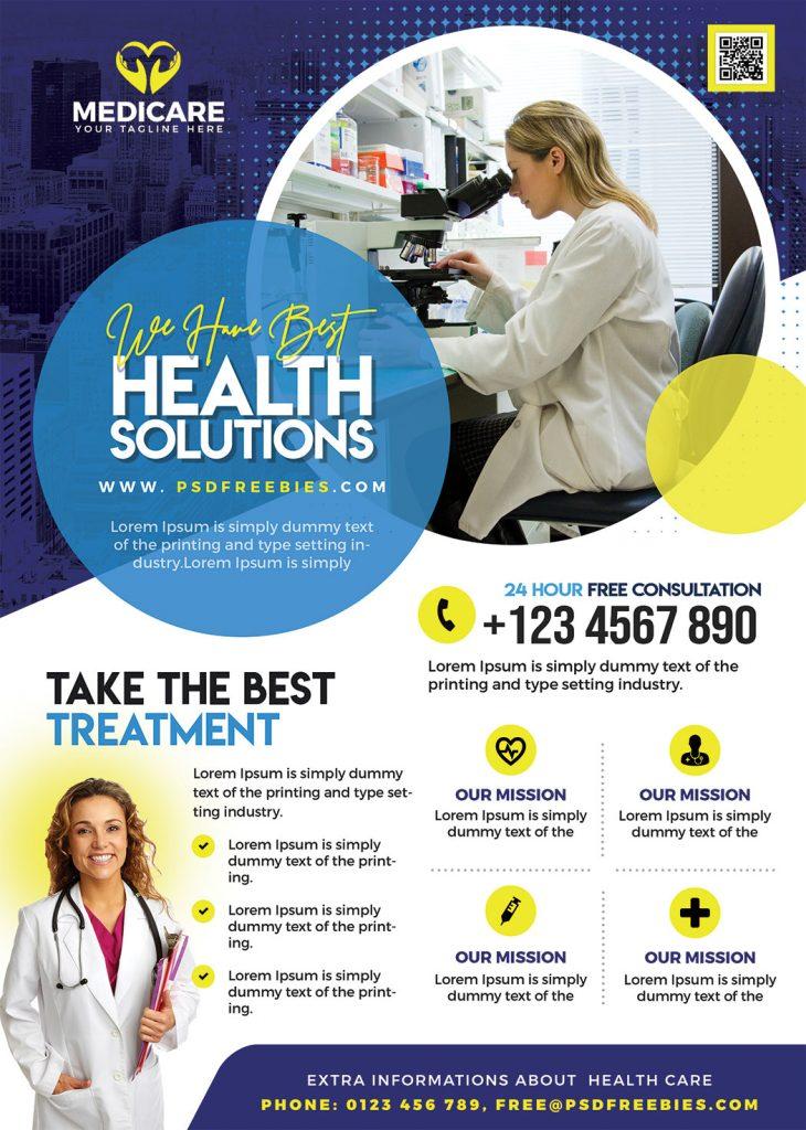 Creative Healthcare and Pharmacy Flyer PSD