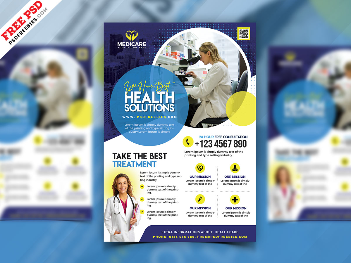Creative Healthcare and Pharmacy Flyer PSD – PSDFreebies.com In Pharmacy Brochure Template Free