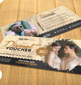 Fashion Store Discount Voucher PSD Template