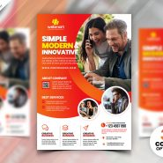Modern Design Business Flyer PSD Template