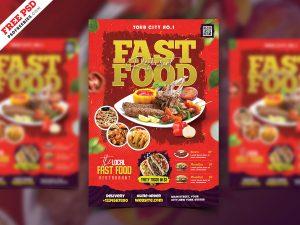 Restaurant Business Promotional Flyer PSD
