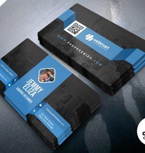 Minimal Corporate Business Card PSD Template