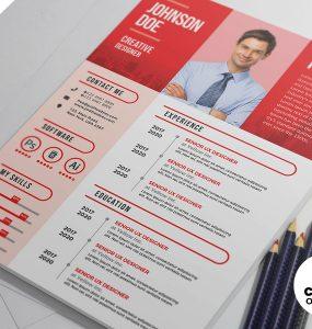 Modern CV Resume Template PSD