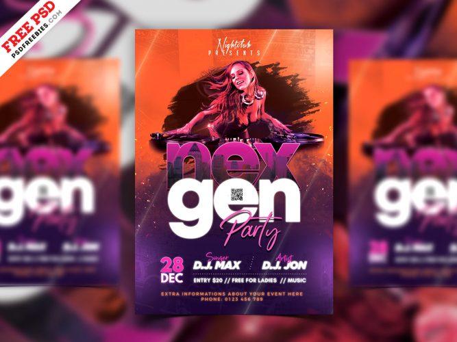 Club Party Flyer Design PSD