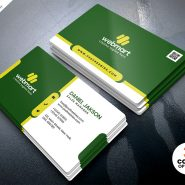 Minimalist Business Card Design PSD Template