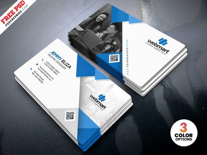 Minimalist Personal Business Card Design PSD