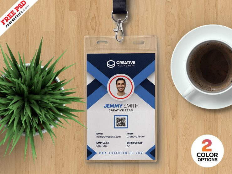 Modern Corporate ID Card PSD Template