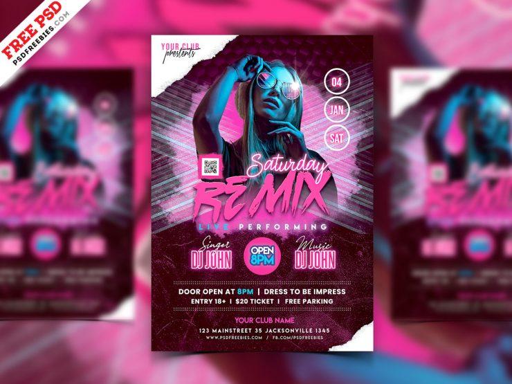 DJ Event Flyer Template PSD