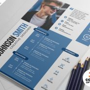 Elegant Minimalist Resume Design PSD