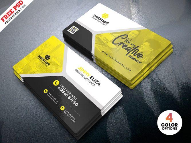 High Quality Designer Business Card PSD