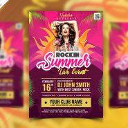 Rockin Summer Party Flyer PSD