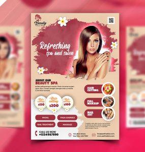 Beauty Salon Spa Business Flyer PSD
