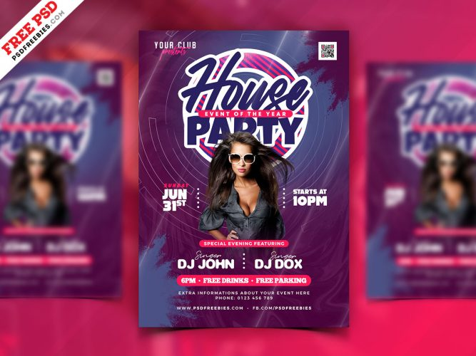 House Party Event Design PSD