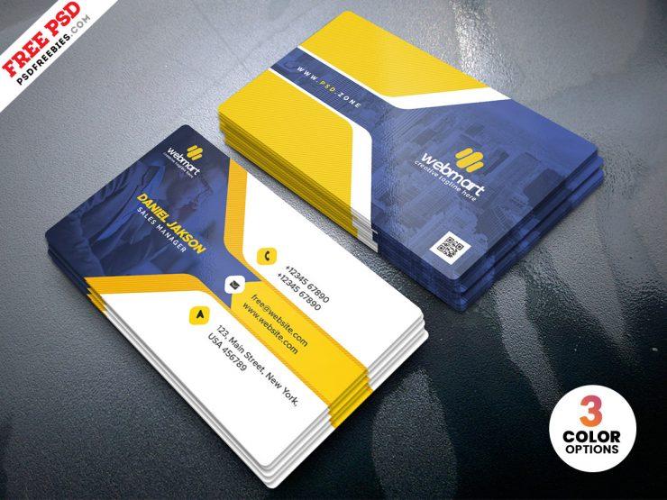 Modern Business Card Template PSD