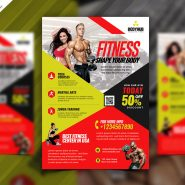 Fitness Studio and Gym Flyer PSD
