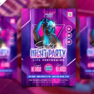 Weekend Party Flyer Template PSD